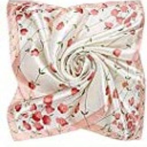 3/$15 Pink and White Floral Silk Scarf NWT